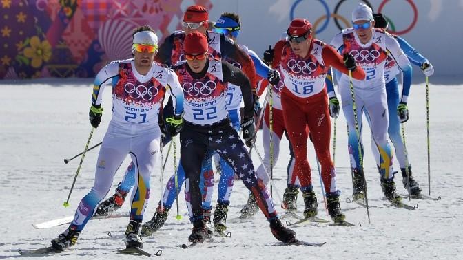 Мужчины завоевали все три Олимпийские награды в состязании по масс-старту на 50 километров